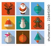 christmas and winter icons... | Shutterstock .eps vector #226641040