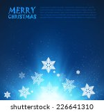 christmas background. vector... | Shutterstock .eps vector #226641310