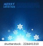 christmas background. vector... | Shutterstock .eps vector #226641310