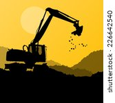 Excavator Digger In Action...