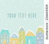winter card template with cute... | Shutterstock .eps vector #226643404