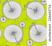 Green Bike Penny Farting Pattern