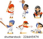 baseball player set  with... | Shutterstock .eps vector #226645474