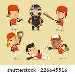 children baseball team  vector... | Shutterstock .eps vector #226645516