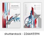 technical flat flyer design.... | Shutterstock .eps vector #226645594