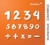 vector numbers and mathematical ... | Shutterstock .eps vector #226648810