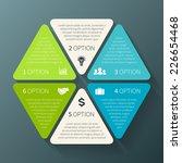 vector hexagon infographic....   Shutterstock .eps vector #226654468