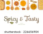 spicy and tasty  spices and... | Shutterstock . vector #226656904