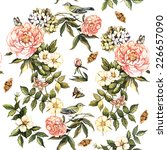 Delicate Vintage Pattern With...