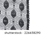 dramatic black lace over white...   Shutterstock . vector #226658290