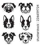 A Set Of 6 Dog Icons Featuring...