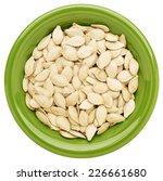 fresh pumpkin seeds in an... | Shutterstock . vector #226661680