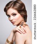 beauty young woman portrait... | Shutterstock . vector #226662880