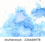 blue watercolor background for