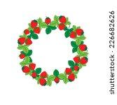 strawberry round ornament .... | Shutterstock .eps vector #226682626