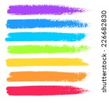bright colors vector marker... | Shutterstock .eps vector #226682830
