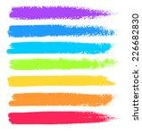 bright colors vector marker... | Shutterstock .eps vector #226682830