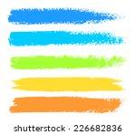 bright colors vector marker... | Shutterstock .eps vector #226682836