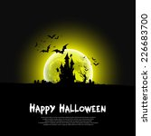 happy halloween message design... | Shutterstock .eps vector #226683700