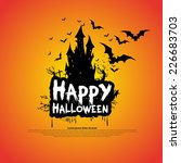 happy halloween message design... | Shutterstock .eps vector #226683703