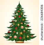 christmas tree card   poster  ...