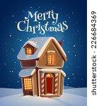 Gingerbread House. Christmas...