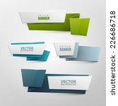 origami vector banners set  | Shutterstock .eps vector #226686718