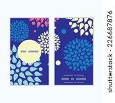 vector colorful bursts vertical ... | Shutterstock .eps vector #226687876