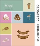 meal menu food and drink icons. ... | Shutterstock .eps vector #226690780