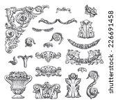 set of vector vintage baroque... | Shutterstock .eps vector #226691458