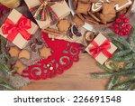 gingerbread cookies with...   Shutterstock . vector #226691548