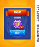 game ui. reward screen. vector...