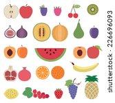 fruit icons set 1 | Shutterstock .eps vector #226696093