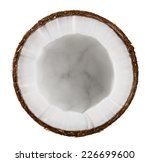 half coconut isolated on white... | Shutterstock . vector #226699600
