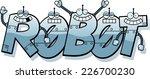 a cartoon illustration of robot ... | Shutterstock .eps vector #226700230
