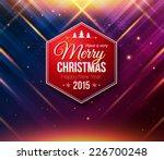 Blue And Purple Christmas Card...