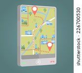 phone navigator application   Shutterstock .eps vector #226700530