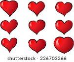 vector hearts | Shutterstock .eps vector #226703266