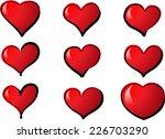 vector hearts | Shutterstock .eps vector #226703290
