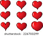 vector hearts | Shutterstock .eps vector #226703299