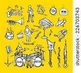 music background   set of music ... | Shutterstock .eps vector #226703743
