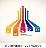 colored arrows vector | Shutterstock .eps vector #226703908