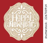 happy new year .label  | Shutterstock .eps vector #226703914