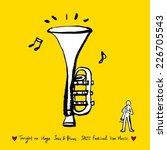 music illustration   hand drawn ... | Shutterstock .eps vector #226705543