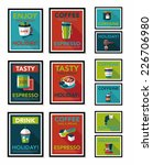 coffee poster flat banner... | Shutterstock .eps vector #226706980