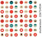 seamless pattern with english... | Shutterstock .eps vector #226714534