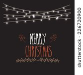 merry christmas card with... | Shutterstock .eps vector #226720900