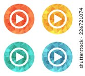 play button web icon   flat... | Shutterstock .eps vector #226721074