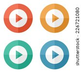 play button web icon   flat... | Shutterstock .eps vector #226721080