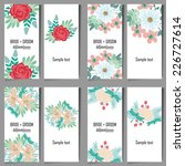 abstract flower background with ... | Shutterstock .eps vector #226727614